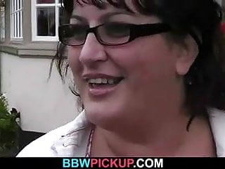 Picked up BBW is fucked in the public restroom