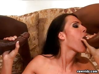 Jennifer Dark brunette enjoys interracial dp