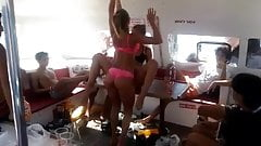 Iaraeli Young guys are having a party on a yacht
