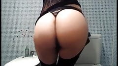 Spanked herself for me