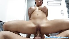 Busty milf squirter Sheile Marie nailed