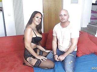 German MILF Sarah Star Deepthroat Nipple Lick Orgasm FanDate