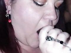 My BBW Sucking Her Lovers BBC