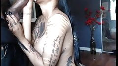 Tatted Ebony Sukcing Bbc For The Cam