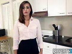 PropertySex - Real estate agent fucks boss to keep job