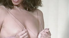 Sexy MILF models bikini and gets naked for you