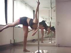 Cute pole dance