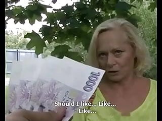 Sometimes Money Talks  Busty Blonde Granny Gilf
