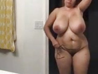 Mammoth Jugged Hourglass Housewife Caught On Hidden Camera