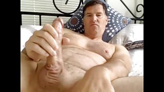 husband strokes mature cock