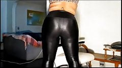 chubby in shiny leggings & pantyhose