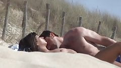 incredible french couple beach nudist amateur brunette
