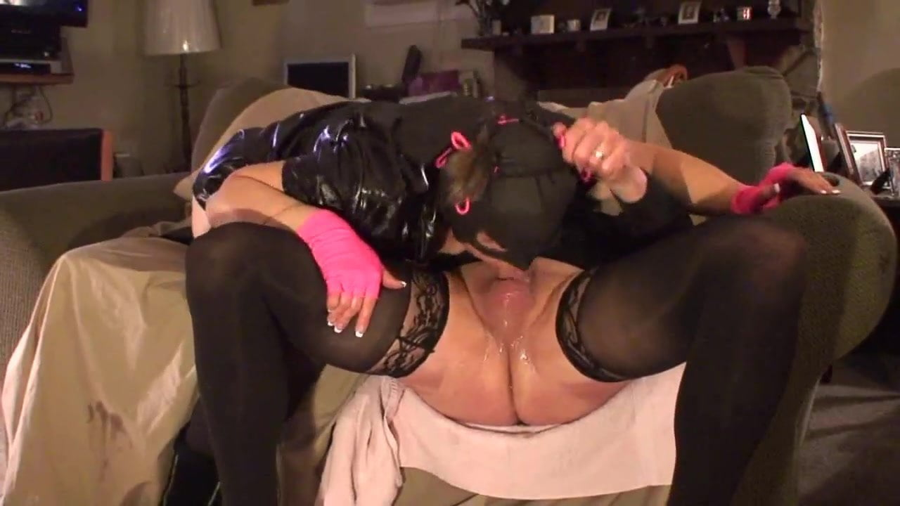Gagging sloppy deepthroat with masks and pigtails
