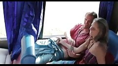 Public blowjob in bus