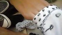 Converse and Hello Kitty Socks