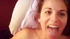 BEAUTIFUL GIRL TAKE CUM WHIT SMILE