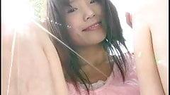 IBUKI show her slit outdoor