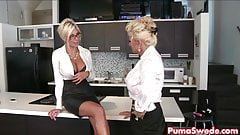 Puma Swede & Bobbi are the Lesbian Office Slut!