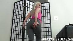 These yoga pants really hug my pussy JOI
