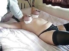Homemade tits bondage