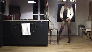 TRAVESTI CD TS TV SISSY COLLANTS PANTYHOSE cock inside