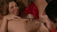 Redheaded milf takes another cock up her ass