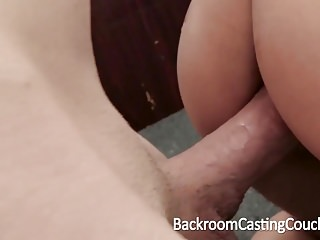 Preview 5 of Cute Teen Anal Creampie on Casting Couch