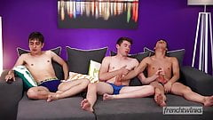 Three beautiful twinks who prefer sex to soccer