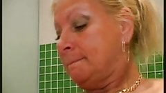 Blonde Mature - Bathroom Experience with young