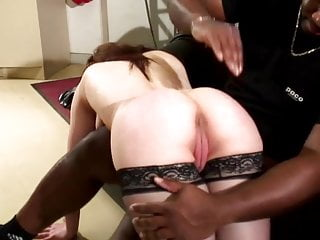 Cute brunette french girl loves to suck big black dick and stuff her pussy
