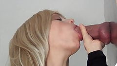 She gives blow jobs