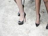 2 lesbian secretarysluts in public showing upskirt stockings