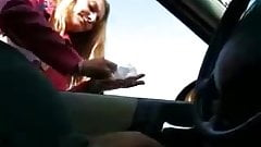 Handjob in car video