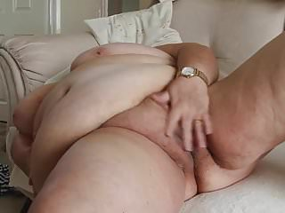 SBBW grandma shows her ass