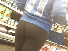 FLAWLESS Fit Booty in SEE THRU Pants shopping !!