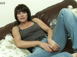 Hot British MILF masturbate alone