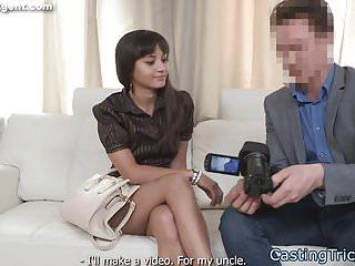 Euro amateur banged on fake casting