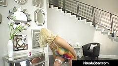 Sex Fiend Natalia Starr Shoves Her Dildo Deep Inside Pussy!