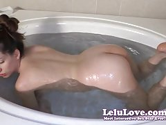 Lelu Love-Bathtub Closeups Shaving Legs And Armpits