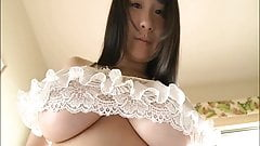 Japanese with natural big tits