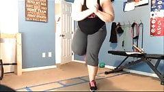 Thick fat Ass girl home workout - Part 2
