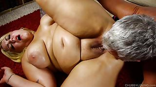 Busty blonde BBW beauty is such a hot fuck & loves 2 eat cum