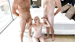 ExxxtraSmall - Sexy Petite Fucked By Two Cocks