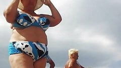 Russian mature on the beach! amateur!