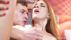 MOM Sexy tight Spanish redhead takes on huge cock