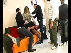 Rose gangbanged during her husband watching