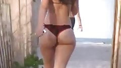 big ass thong bikini on beach 2014