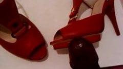 wife heels shoes cum3