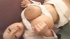 Busty Hitomi Bukkake