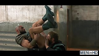 Francois Sagat and Colby Keller bang in justice league HQ
